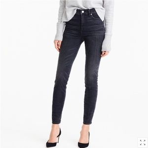 J Crew 9'' High Rise Toothpick Jean in Charcoal